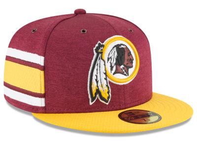 Washington Redskins New Era 2018 Official NFL Sideline Home 59FIFTY Cap  e66197d1a80
