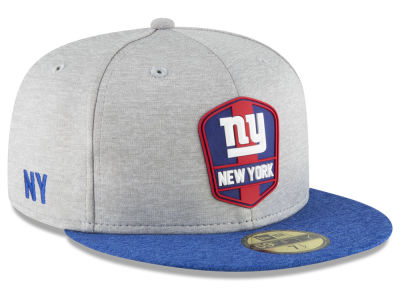 New York Giants New Era 2018 Official NFL Sideline Road 59FIFTY Cap ... c995662f2e1