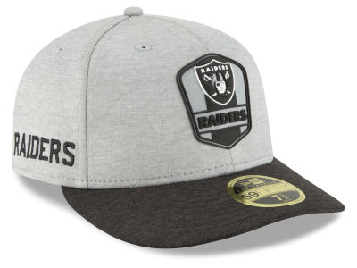 Oakland Raiders New Era 2018 Official NFL Sideline Low Profile Road 59FIFTY  Cap  8b736434f57