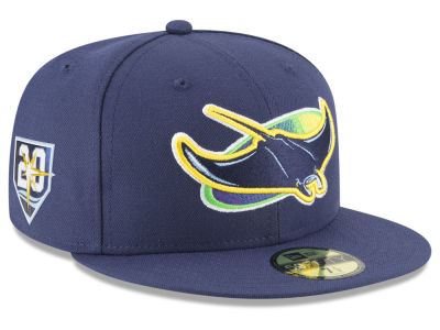 Tampa Bay Rays New Era MLB Authentic Collection 20th Anniversary 59FIFTY Cap   1444de0cf