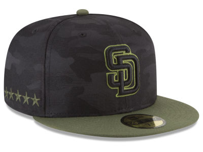 San Diego Padres New Era 2018 MLB Memorial Day 59FIFTY Cap  f6ad27c20a4