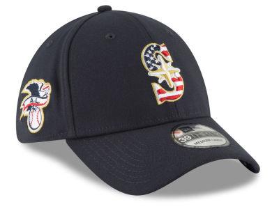huge selection of b095c fe6cd Seattle Mariners New Era 2018 MLB Stars and Stripes 39THIRTY Cap   lids.com