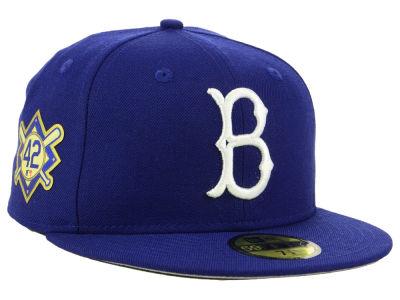 Brooklyn Dodgers Jackie Robinson New Era MLB Patch 59FIFTY Cap ... 5dadede6349