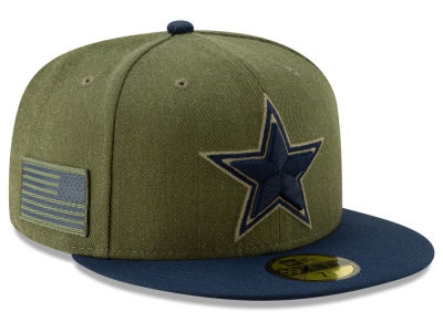 Dallas Cowboys New Era 2018 NFL Salute To Service 59FIFTY Cap  783a12762