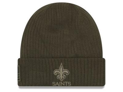 cba58db90 New Orleans Saints New Era 2018 NFL Salute To Service Cuff Knit | lids.com