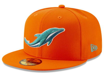 Miami Dolphins New Era NFL Logo Elements Collection 59FIFTY Cap ... 0dd83965add