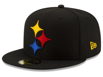 Pittsburgh Steelers New Era NFL Logo Elements Collection 59FIFTY Cap ... 72241f74a83