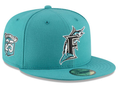 8d13db5d0d077 best price miami marlins new era 2018 mlb turn back the clock 59fifty cap  lids c13de