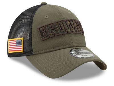 cleveland browns new era nfl camo service patch 9twenty trucker cap