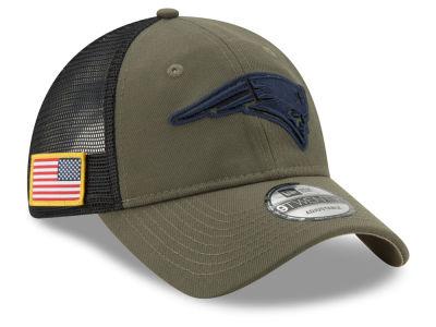 New England Patriots New Era NFL Camo Service Patch 9TWENTY Trucker Cap  e6d8090ba63