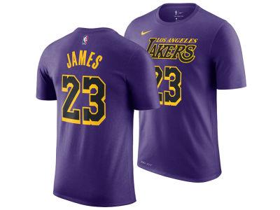 Los Angeles Lakers LeBron James Nike 2018 NBA Men s City Player T-shirt  f0d8cd6df