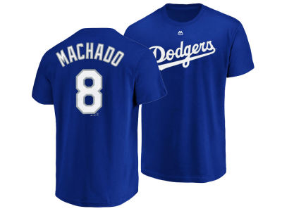 Los Angeles Dodgers Manny Machado Majestic MLB Men s Official Player T-Shirt   85b26a92a28
