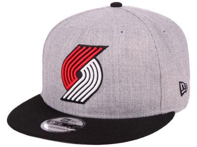 Portland Trail Blazers New Era NBA Heather Gray 9FIFTY Snapback Cap ... e36cf48f764