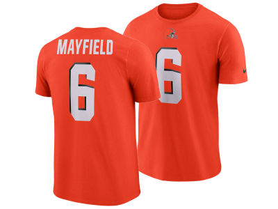 Cleveland Browns Baker Mayfield Nike NFL Men's Player Pride Name and Number Logo 3.0 T-Shirt