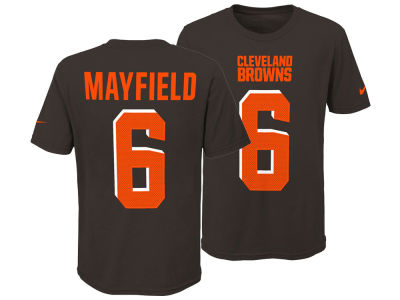 Cleveland Browns Baker Mayfield Nike NFL Youth Pride Name and Number 3.0 T-Shirt