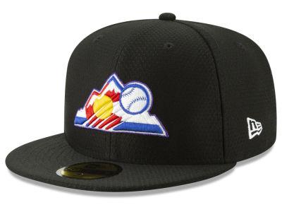 Colorado Rockies New Era 2019 MLB Batting Practice 59FIFTY Cap ... 85e8cea68f2f