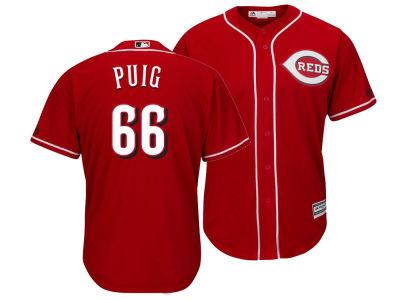 Cincinnati Reds Yasiel Puig Majestic MLB Men s Player Replica Cool Base  Jersey  fd5bff15f2c