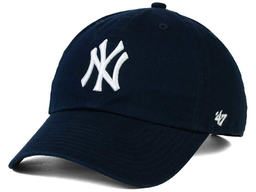 new york yankees white 47 new era mlb core 47 clean up cap. Black Bedroom Furniture Sets. Home Design Ideas