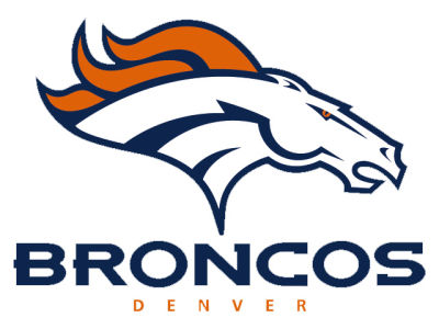 Denver broncos static cling decal
