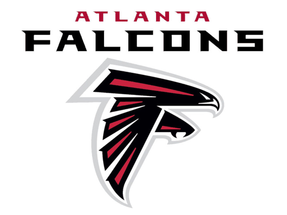 Atlanta falcons static cling decal