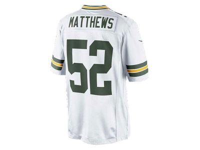 NFL Jersey's Men's Green Bay Packers Clay Matthews Nike White Color Rush Legend Jersey