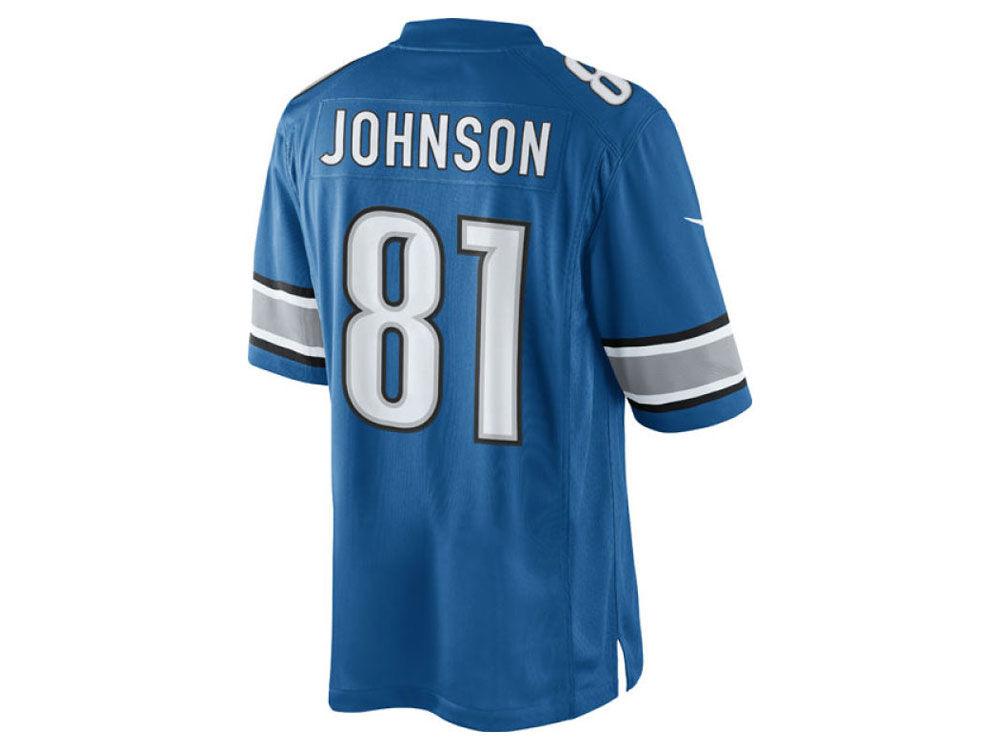 Men's Detroit Lions Calvin Johnson Nike White Limited Jersey