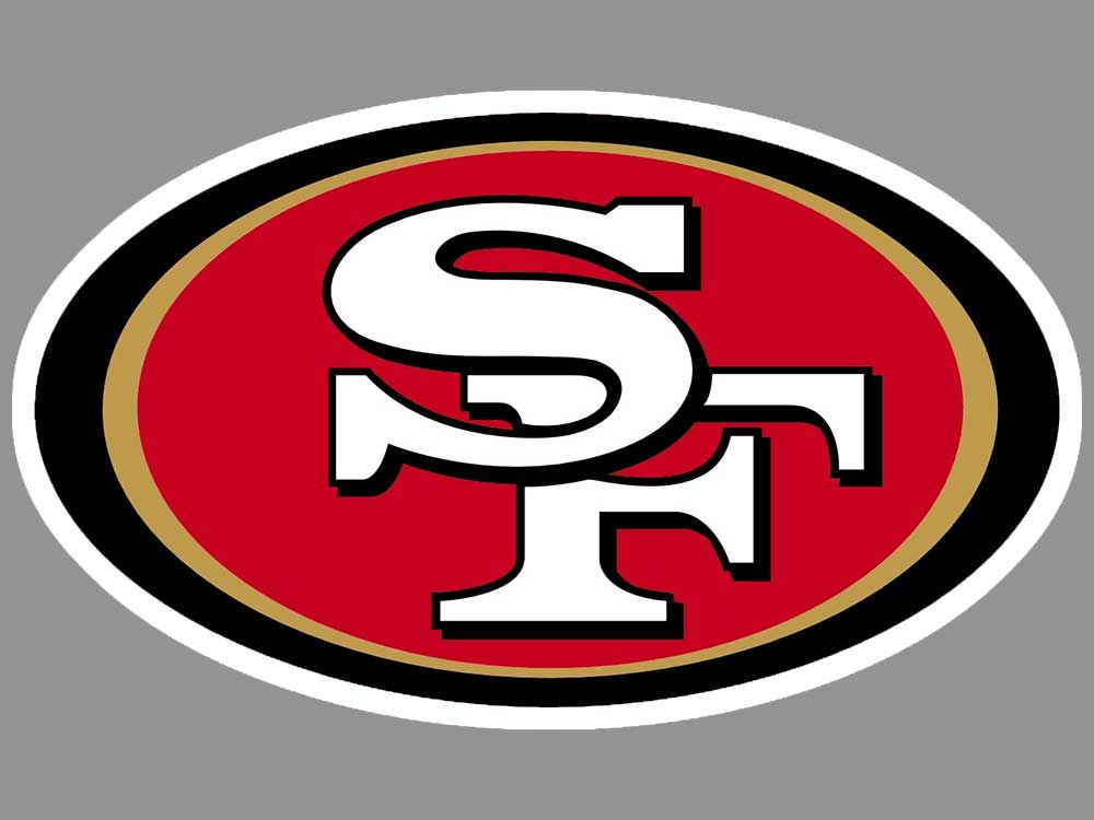 San francisco 49ers 4x4 die cut decal color