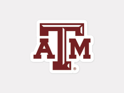 Texas am aggies 4x4 die cut decal color