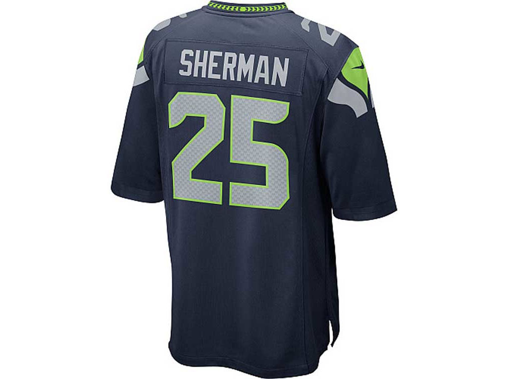 NFL Jerseys Sale - Seattle Seahawks Richard Sherman Nike NFL Men's Game Jersey | lids.com