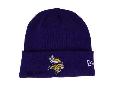 Youth Minnesota Vikings New Era Purple Tech Knit Beanie
