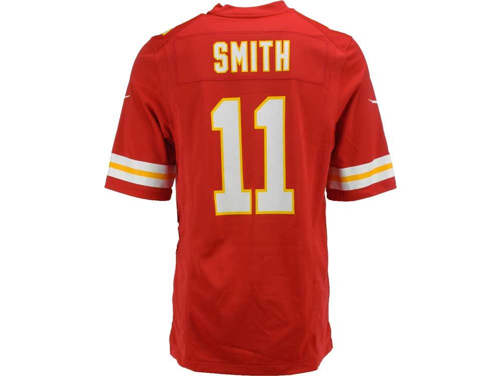NFL Jersey's Mens Kansas City Chiefs Alex Smith Nike White Game Jersey