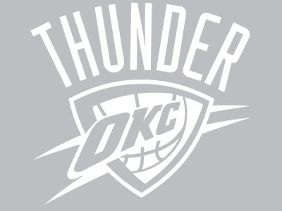 Oklahoma city thunder die cut decal