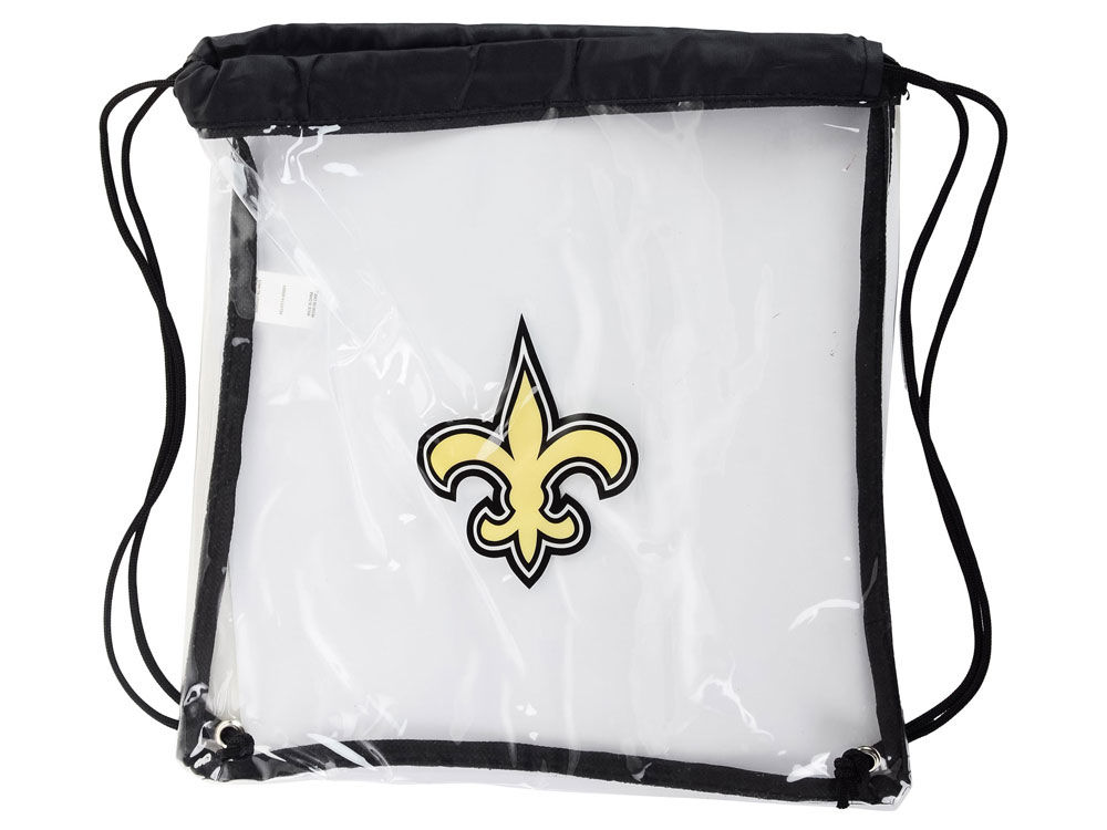 New Orleans Saints Clear Drawstring Backpack | lids.com