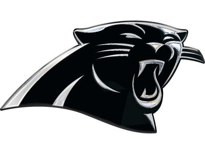 Carolina panthers metal auto emblem