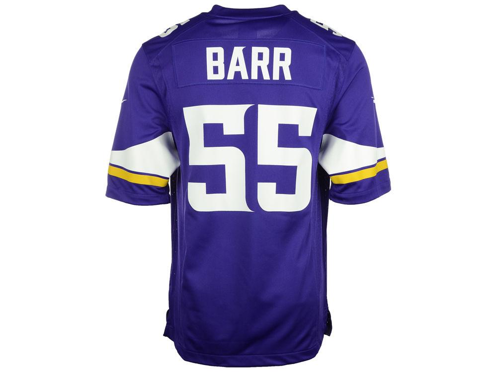 Nike NFL Mens Jerseys - Minnesota Vikings Anthony Barr Nike NFL Men's Game Jersey | lids.com
