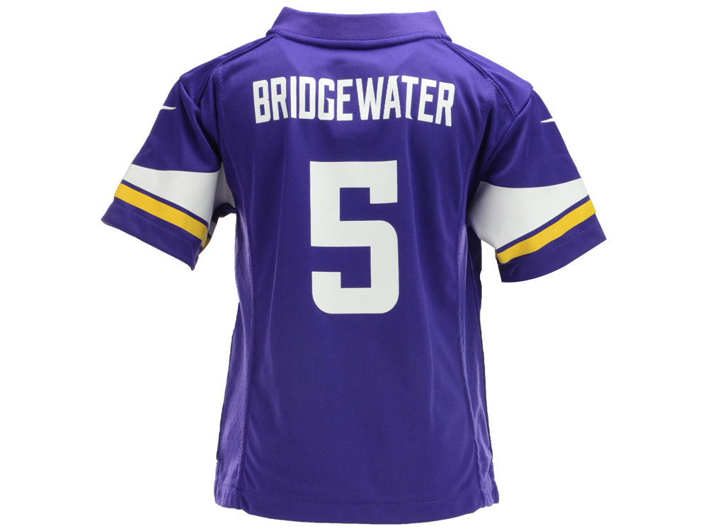 Nike authentic jerseys - Minnesota Vikings Teddy Bridgewater Nike NFL Kids Game Jersey ...