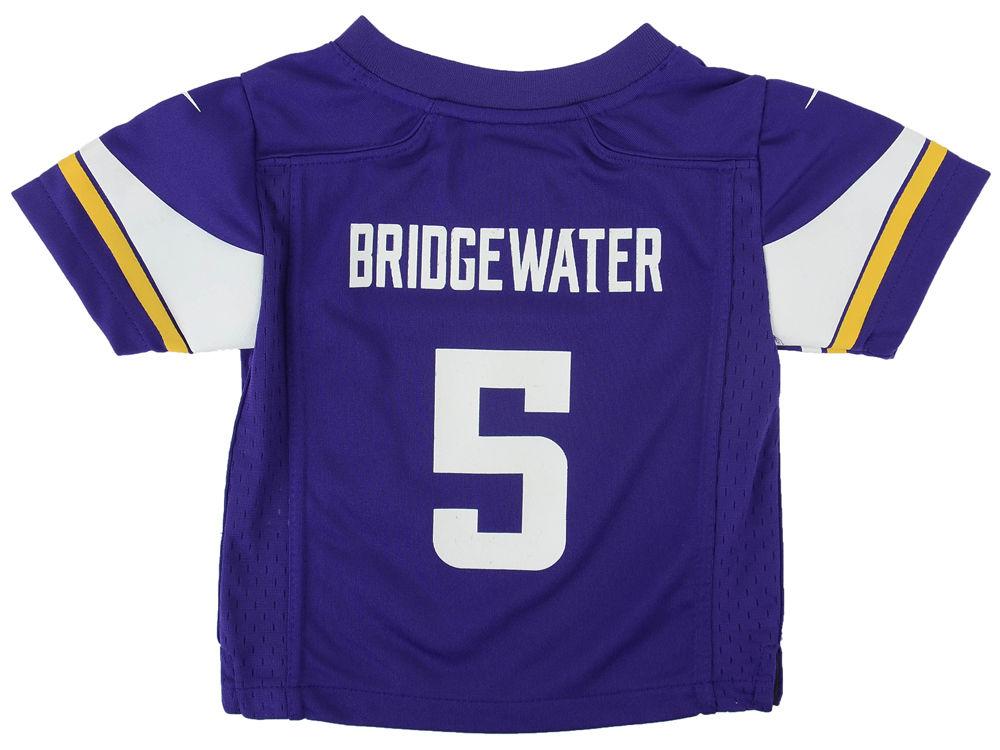 Nike NFL Womens Jerseys - Minnesota Vikings Teddy Bridgewater Nike NFL Toddler Game Jersey ...