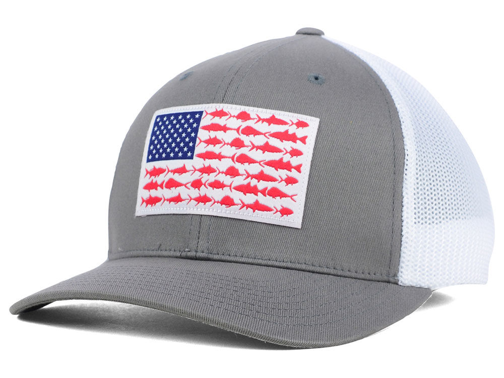 under armour hat american flag columbia ForColumbia Fish Flag Hat