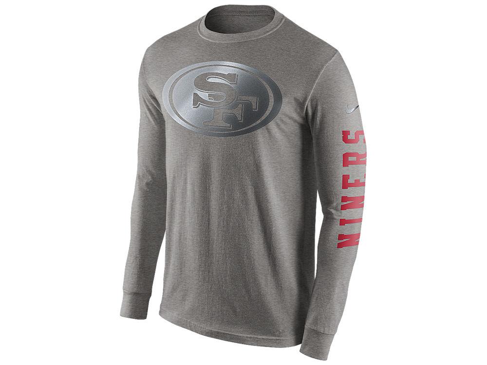 San Francisco 49ers Nike NFL Men's Reflective Long Sleeve T-Shirt ...