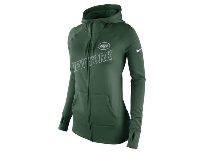 Women's New York Jets Nike Charcoal Platinum All Time Performance Hoodie