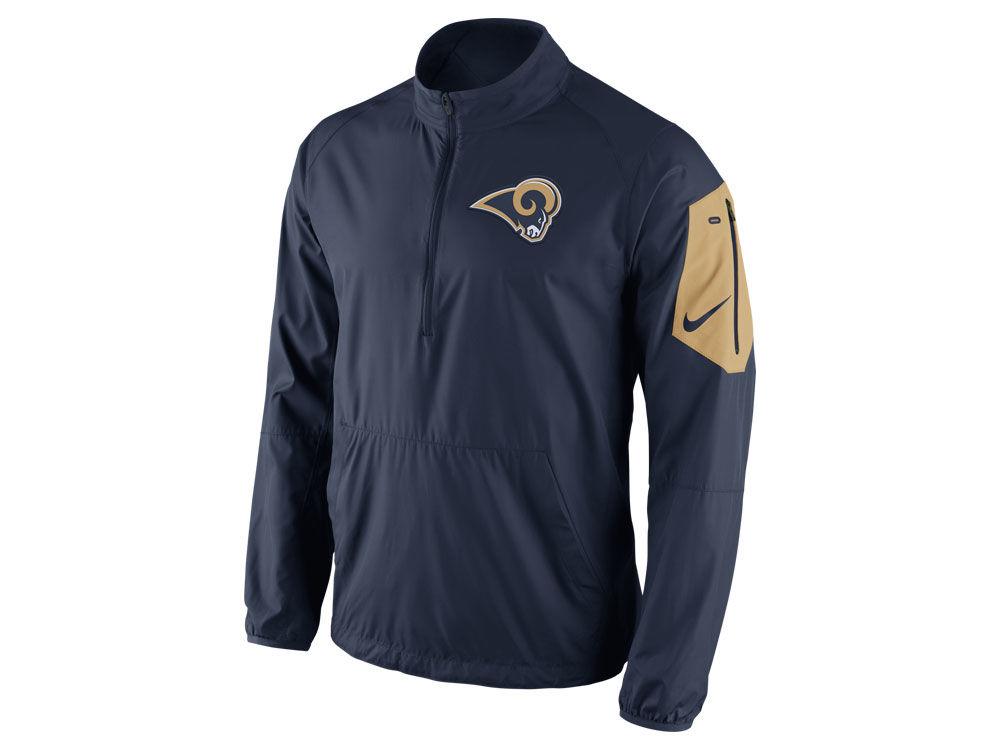 Los Angeles Rams Nike NFL Men's Lockdown Half Zip Jacket | lids.com