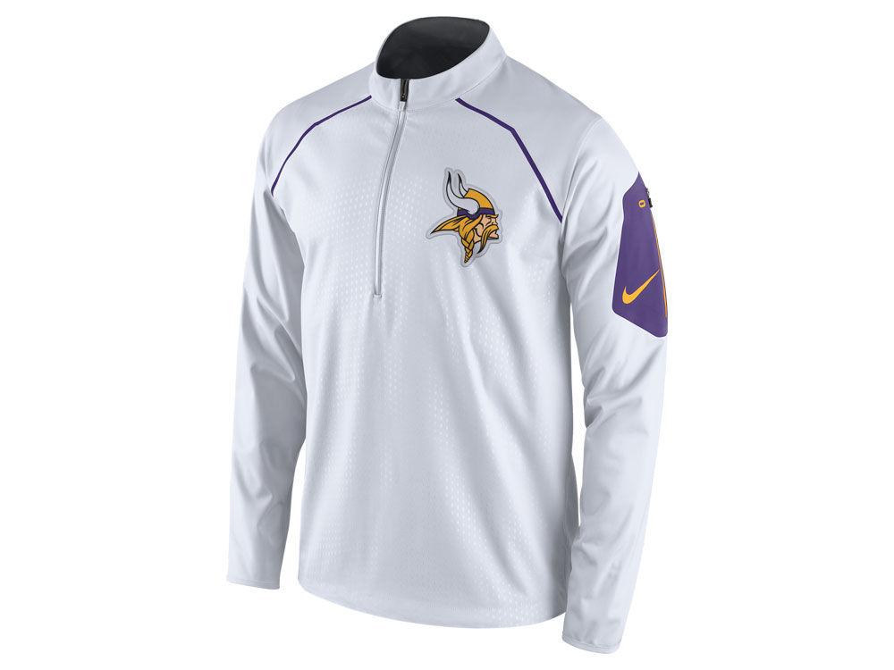 Minnesota Vikings Nike NFL Men's Alpha Fly Rush 1/4 Zip Jacket ...