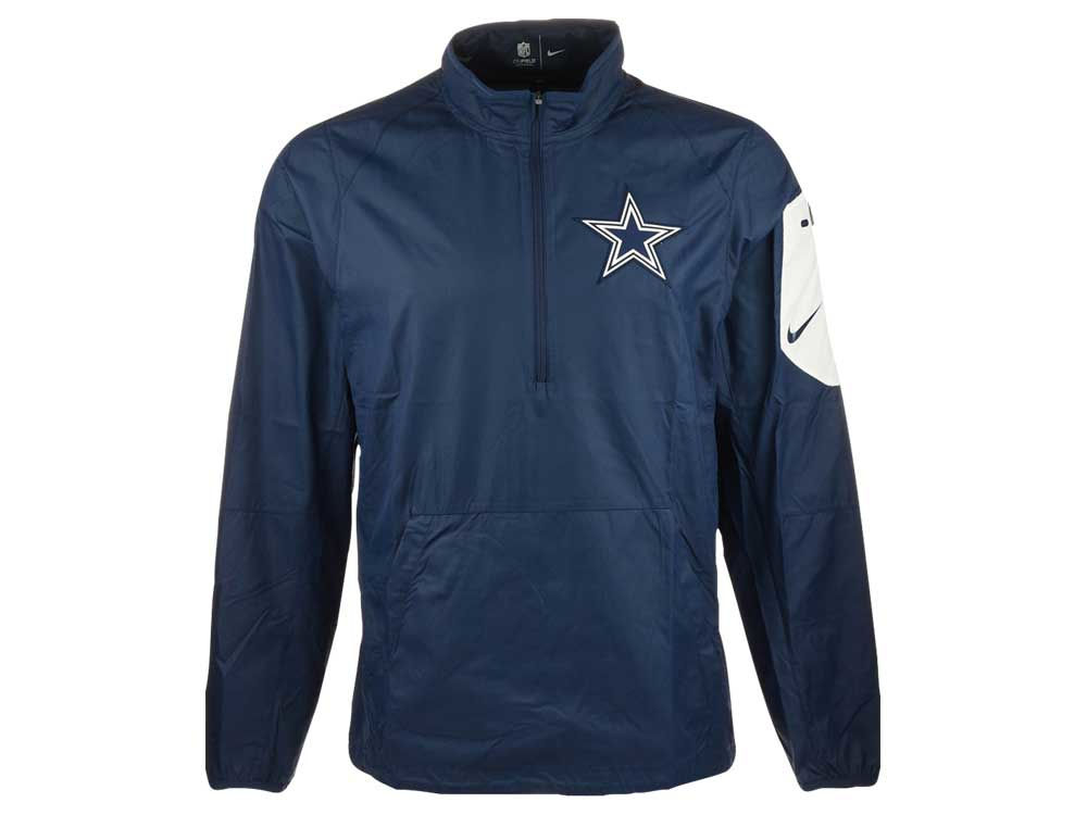 Dallas Cowboys Nike NFL Men's Lockdown Half Zip Jacket | lids.com