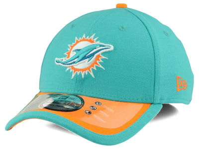 Mens Miami Dolphins New Era Aqua New Logo On-Field Player Sideline 59FIFTY Fitted Hat