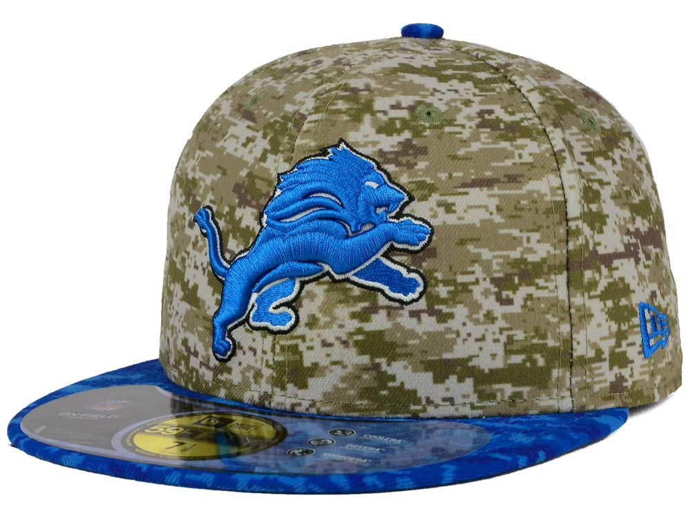 Detroit Lions New Era NFL 2015 Salute to Service 59FIFTY Cap ...