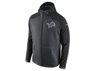 Mens Detroit Lions Nike Gray Quarter Zip Hot Jacket