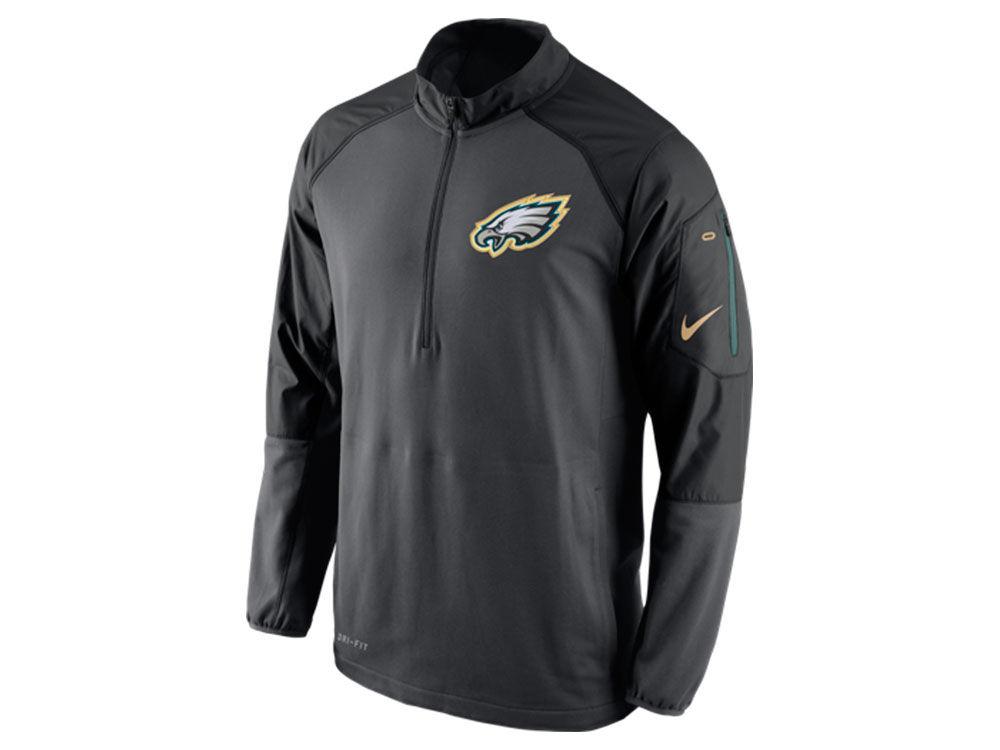 Philadelphia Eagles Nike NFL Men's Champ Drive Sideline Hybrid 1/4 ...