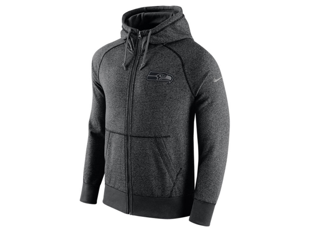 Seattle Seahawks Nike NFL Men's Gridiron Grey Full Zip Hoodie ...