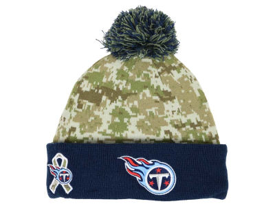 Youth Tennessee Titans New Era Camo On Field Sport Salute to Service Knit Hat
