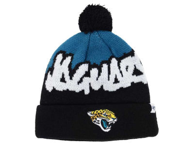 Toddler Jacksonville Jaguars Teal Cuffed Knit Hat With Pom